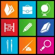 Royalty-Free Stock Vector Image: Metro style school objects