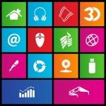 Metro style web icons — Stock Vector #12231730