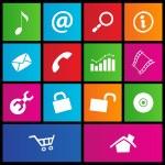 Metro style web icons 2 — Stock Vector