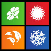 Metro style four seasons icons — ストックベクタ