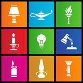 Fontes de luz estilo metro — Vetorial Stock