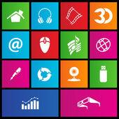 Metro style web icons — Stock Vector