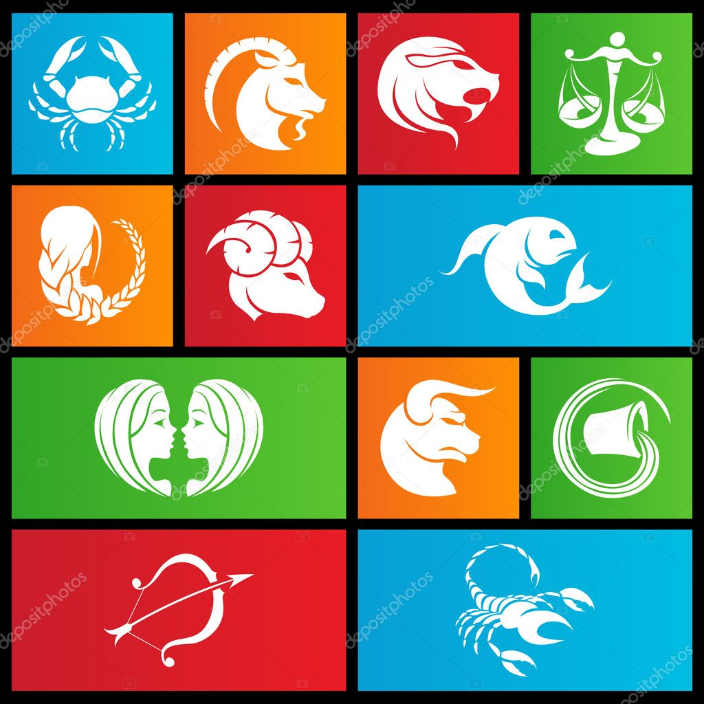 Metro style zodiac star signs — Stock Vector © cidepix #12231742