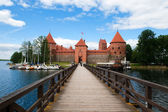Bridge to Trakai Castle — Stock Photo