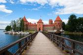 Bridge to Trakai Castle — Stock Photo