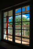 The glass balcony doors — Stock Photo