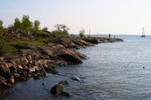 Rock shoreline — Stock Photo