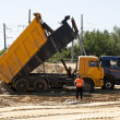 Unloading of sand — Stock Photo #11583475