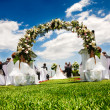 Idyllic wedding — Stock Photo