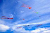 Colorful kites — Foto Stock