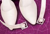 Détail de chaussures de mariage — Photo