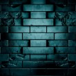 Stock Photo: Darck brick wall