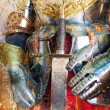 Medieval armor background - Stock Photo