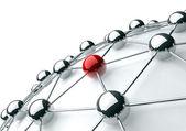 Mise en réseau et le concept de l'internet — Photo