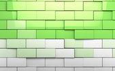 Brick wall cubes background — Stock Photo