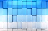 墙上的瓷砖的多维数据集背景 — 图库照片