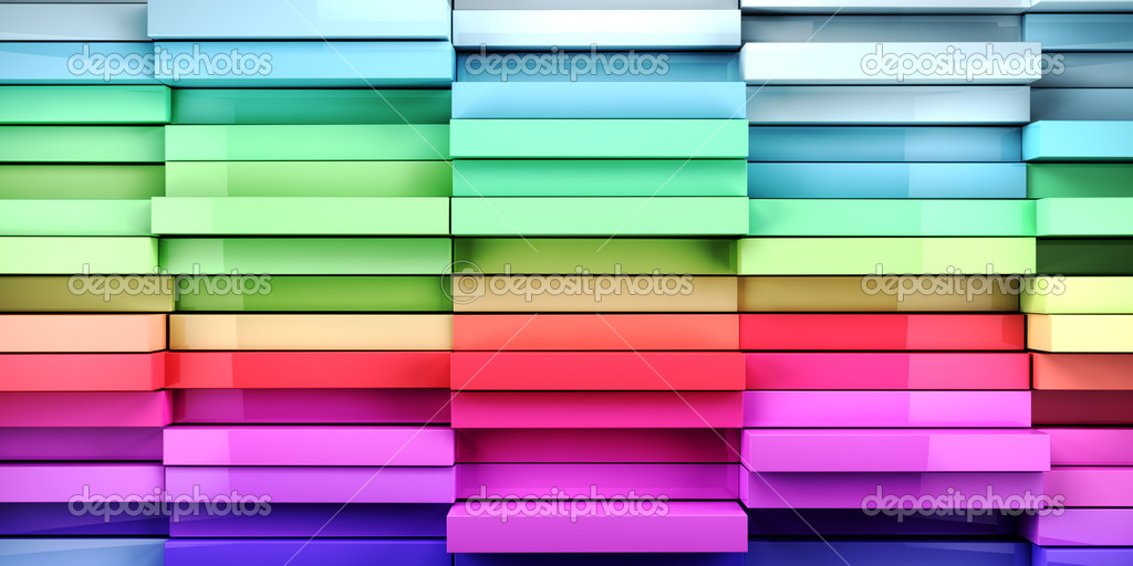 Coloful abstract tiles cubes background — Stock Photo #11900224