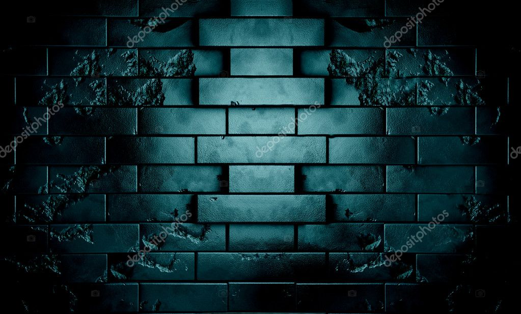 Dark brick wall in night scene background — Stock Photo #11900295