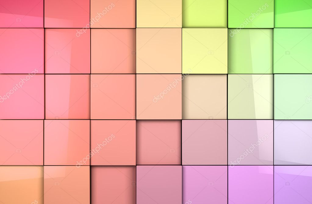Coloful abstract tiles cubes background  Stock Photo #11900307