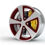Car wheel on white background. — Stock Photo #12207209