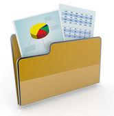 Computadoras y análisis financieros — Foto de Stock