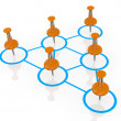 Business organization chart — Stock Photo