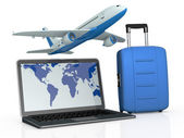 Online travel booking — Stock Photo