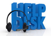 Concept of help desk service — Stock Photo