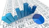 Conceito de análise financeira — Foto Stock