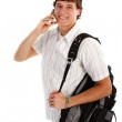 Young College Student on Cellphone — Stock Photo