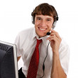 Young Friendly Male Technical Support Person — Foto de stock #12144288