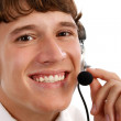 Friendly Tech Support Guy Closeup — Stock Photo