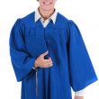 Happy Young College Student in Graduation Outfit — Stock Photo