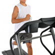Healthy Young African American Running in Treadmill — Stock Photo