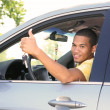 Young Smiling African American Male Driver — Stock Photo