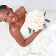 Beautiful African American Bride Portrait — Stock Photo