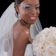 Beautiful African American Bride Portrait - Stock Photo