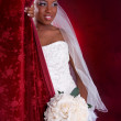 Beautiful African American Bridal Portrait — Stock Photo