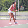 Youn female tennis player — Stock Photo