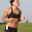 Young Female Runner Outdoor at Park — Stock Photo