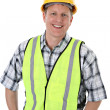 Cheerful Construction Worker Portrait — Stock Photo