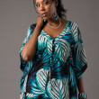 Plus Size Young African American Woman Portrait — Stock Photo