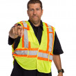 Security Officer Directing Isolated — Stock Photo #12383170