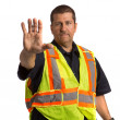 Security Officer Directing Isolated — Stock Photo #12383172