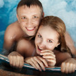 Beautiful happy man and woman — Stock Photo