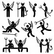 Stock Vector: Devil Angel Friend Enemy Icon Symbol Sign Pictogram