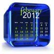 Blue February Calendar — Stock Photo