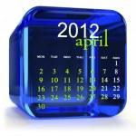 Blue April Calendar — Stock Photo