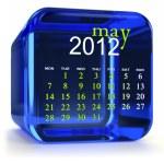 Blue May Calendar — Stock Photo
