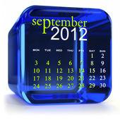 Blue September Calendar — Stock Photo